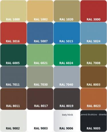 Poštové schránky - farebné prevedenie